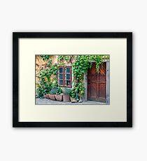 Old house facade. Framed Print