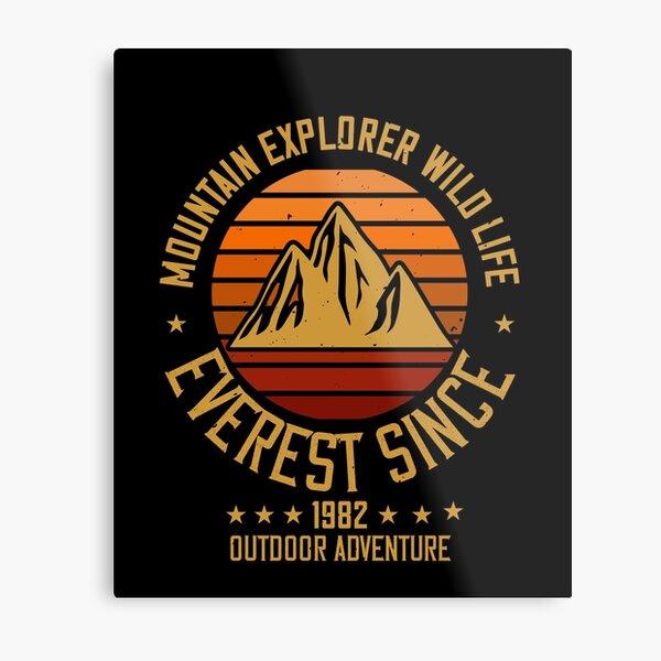Mountains - Mountain Explorer Wildlife Since 1982 Metal Print