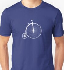 Bike Penny Farthing White (Big) Unisex T-Shirt