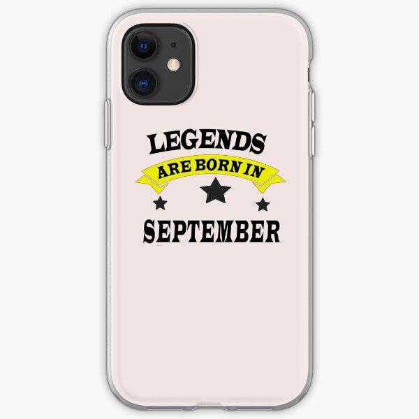 September Born Birthday iPhone Soft Case