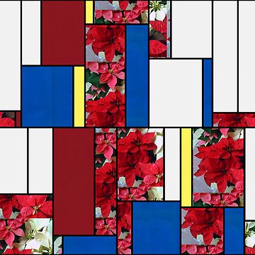 Mixed color Poinsettias 1 Art Rectangles 4 by TravelPhotoArt