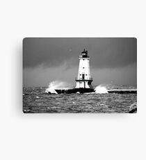 November Winds on Lake Michigan Canvas Print