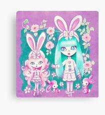Bunny Girl Sisters Canvas Print