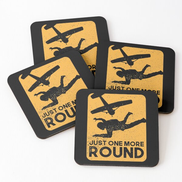 Just One More Round Coasters (Set of 4)