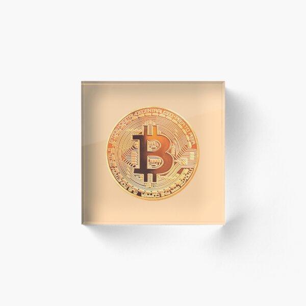 Sherbet Bitcoin  Acrylic Block