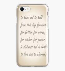 Wedding Vows iPhone Case/Skin