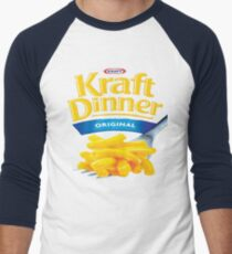 Kraft Dinner Mac 'n' Cheese T-Shirt Men's Baseball ¾ T-Shirt