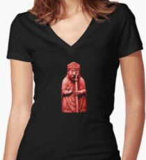 Angry Bishop T-Shirt Women's Fitted V-Neck T-Shirt