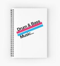 Drum & Bass F2 Spiral Notebook