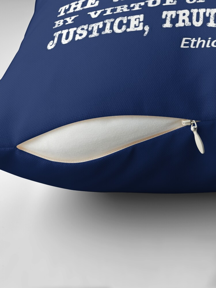 Alternate view of Justice, Truth, and Peace. Throw Pillow