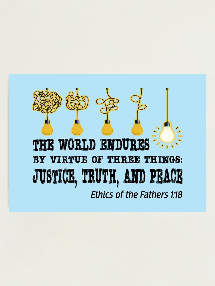 Alternate view of Justice, Truth, and Peace. Photographic Print