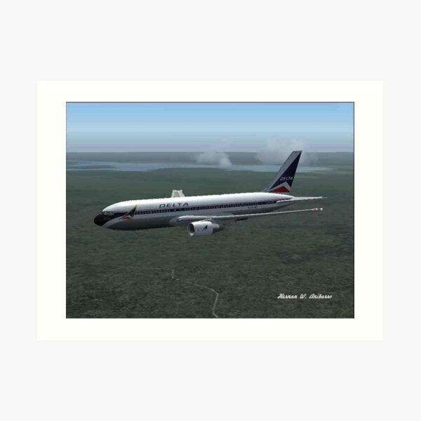 """The Spirit of Delta"" Boeing 767-200 Art Print"