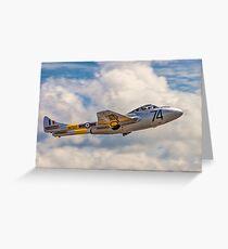 De Havilland Vampire T.11 WZ507 G-VTII Greeting Card