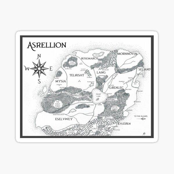 Map of Asrellion Sticker