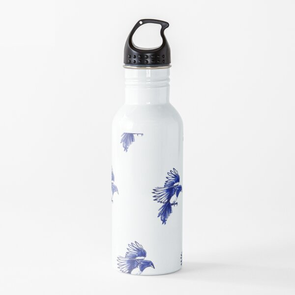 A flock of Magpies Water Bottle
