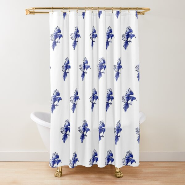 A flock of Magpies Shower Curtain