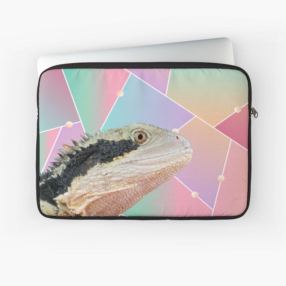 Geometric Pattern Australian Water Dragon Laptop Sleeve
