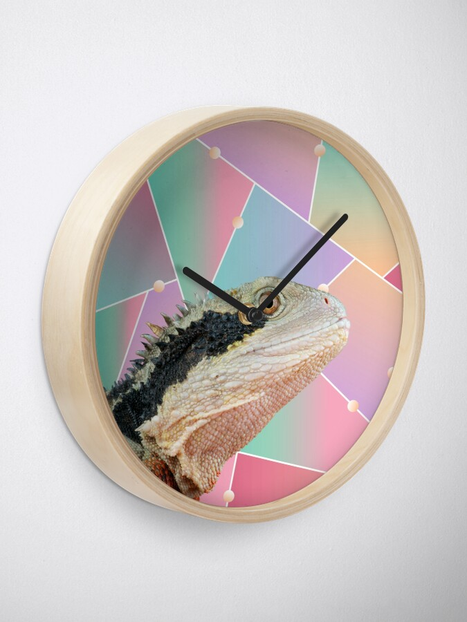 Alternate view of Geometric Pattern Australian Water Dragon Clock