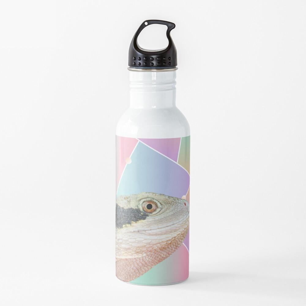Geometric Pattern Australian Water Dragon Water Bottle