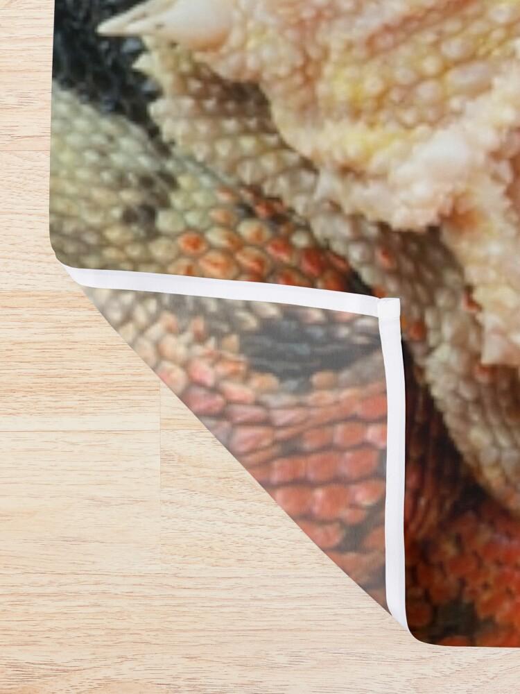 Alternate view of Geometric Pattern Australian Water Dragon Shower Curtain