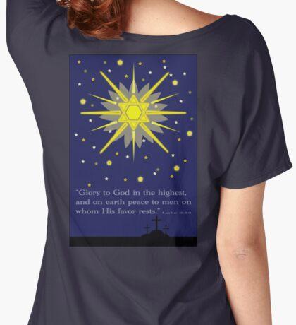 stars & crosses (luke2:14) Women's Relaxed Fit T-Shirt