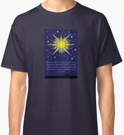 starry sky & crosses (luke 2:10-11)  front Classic T-Shirt