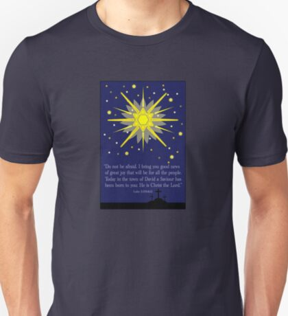 starry sky & crosses (luke 2:10-11)  front T-Shirt