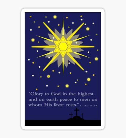 stars & crosses (luke2:14)  front Sticker