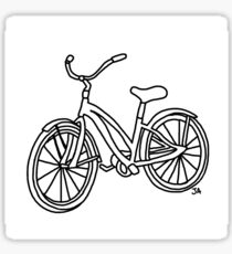 Beach Cruiser Bicycle  Sticker