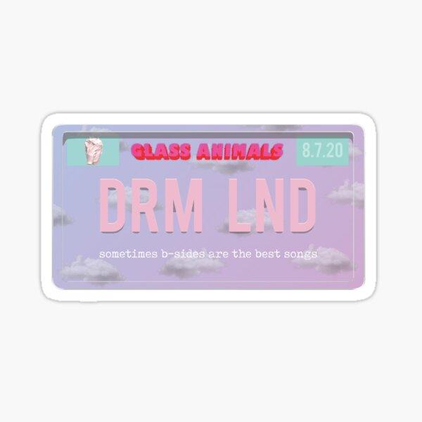 Dreamland Glass Animals license Sticker