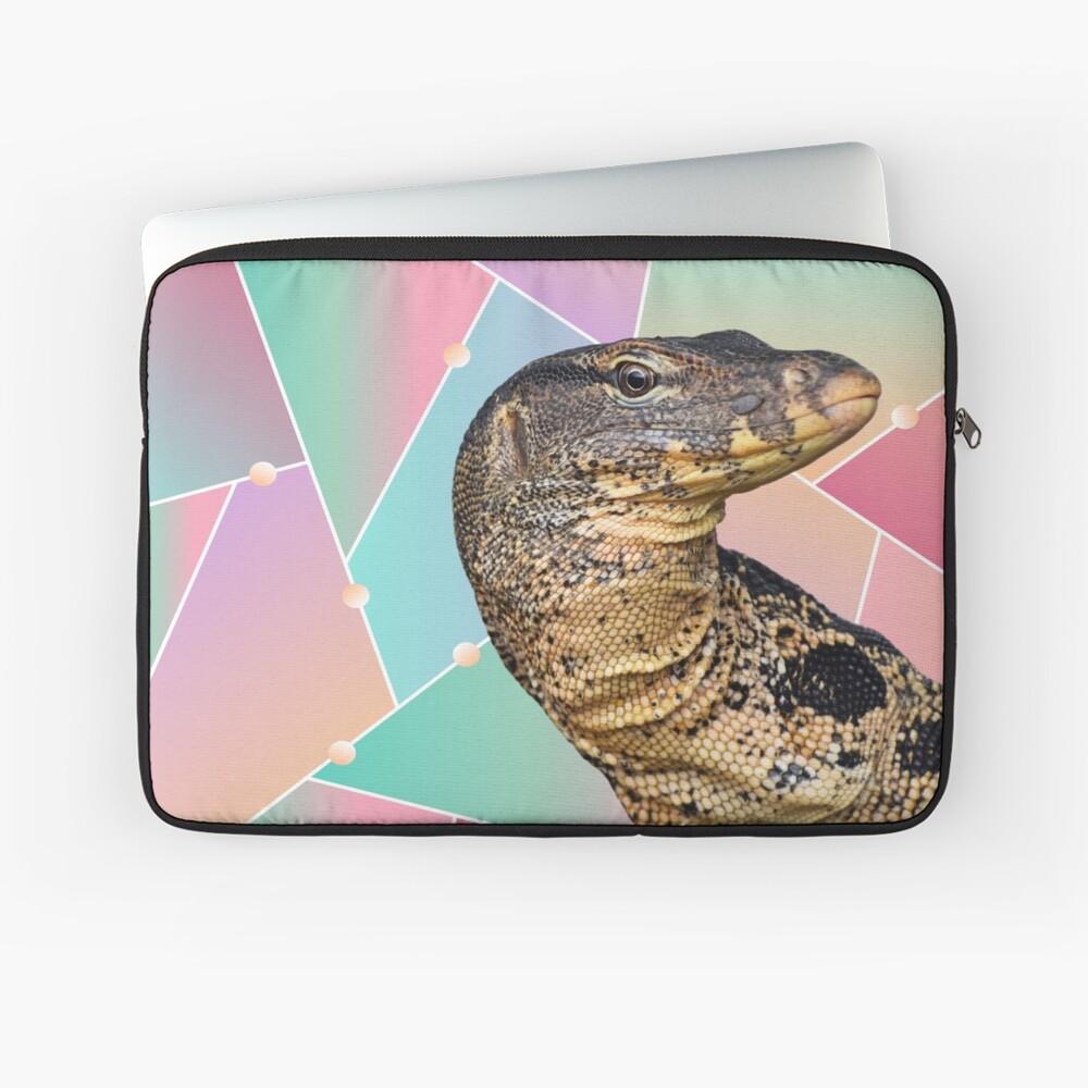 Geometric Pattern Monitor Lizard Laptop Sleeve