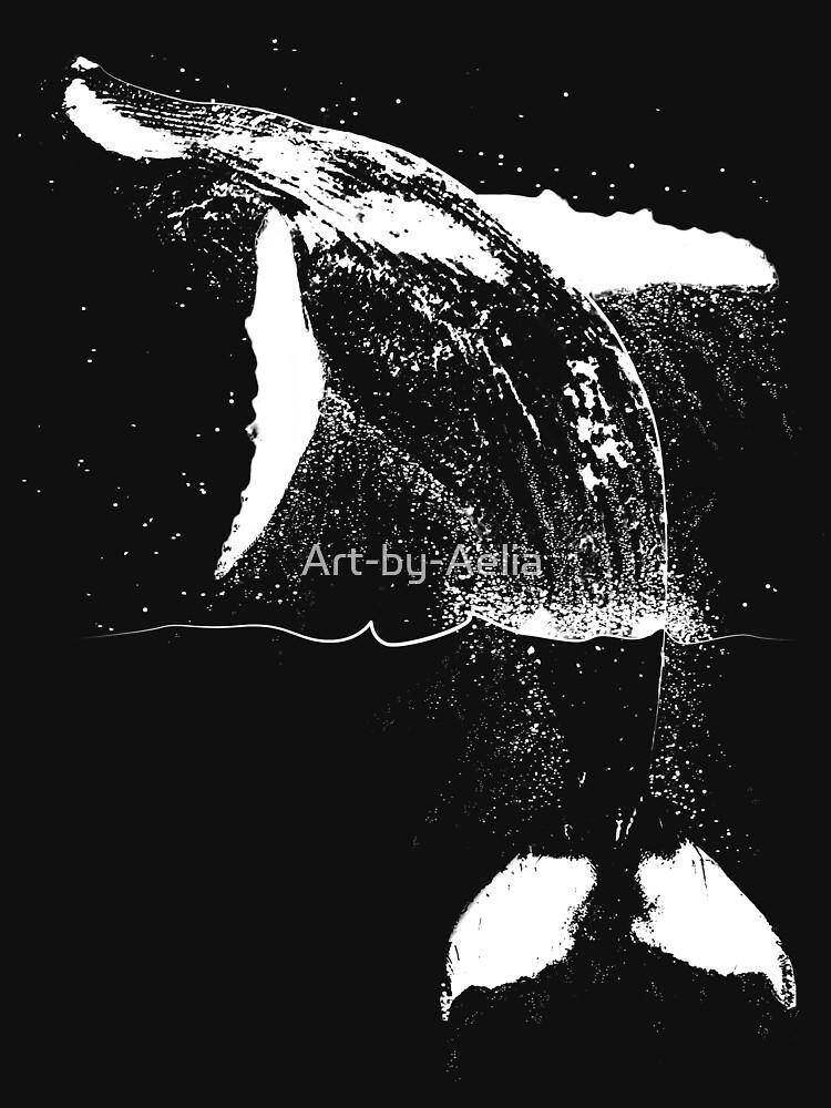 Breaching Humpback by Art-by-Aelia