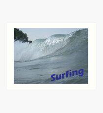 Surfing Art Print