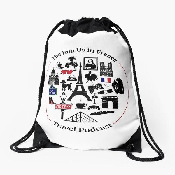 Join Us in France Logo Drawstring Bag