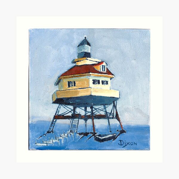Drum Point Lighthouse in the Chesapeake Bay Art Print