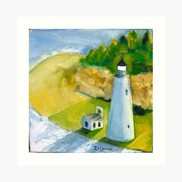 Cove Point Lighthouse in the Chesapeake Bay Art Print