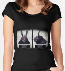 Evil Easter Bunny Rabbit Women's Fitted Scoop T-Shirt