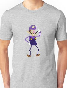 Waluigi Pixel Art Graphic Unisex T-Shirt