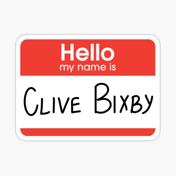 Clive Bixby Nametag Sticker