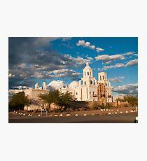 Sunset at San Xavier Mission Photographic Print