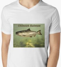 Chinook Salmon Mens V-Neck T-Shirt