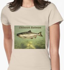 Chinook Salmon Womens Fitted T-Shirt