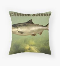 Chinook Salmon Throw Pillow