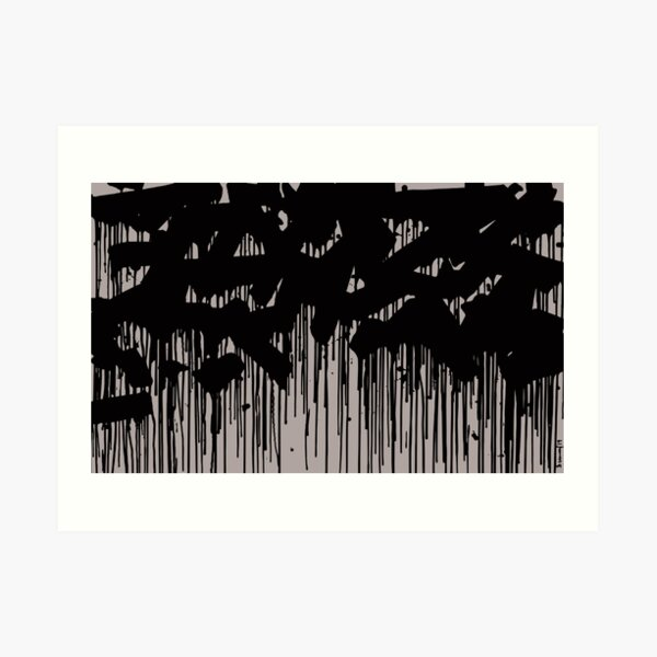 drip bw Art Print