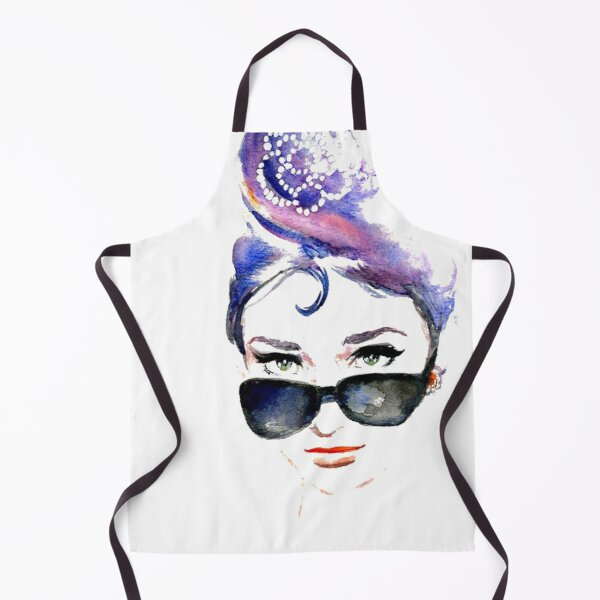 Audrey Hepburn Abstract Apron