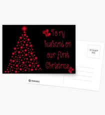 To My Husband On Our First Christmas Postcards