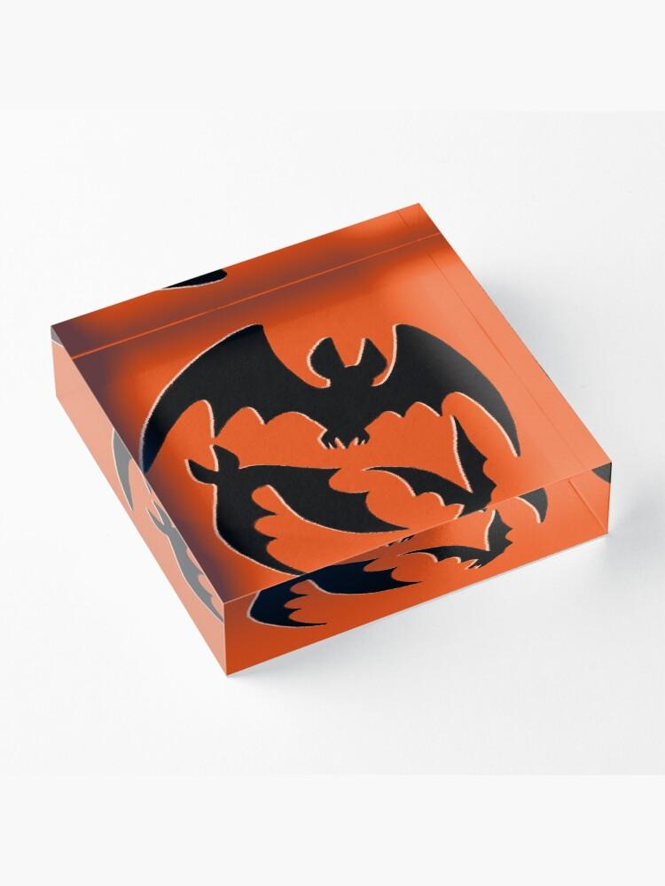 Alternate view of Blood Moon Bats Acrylic Block