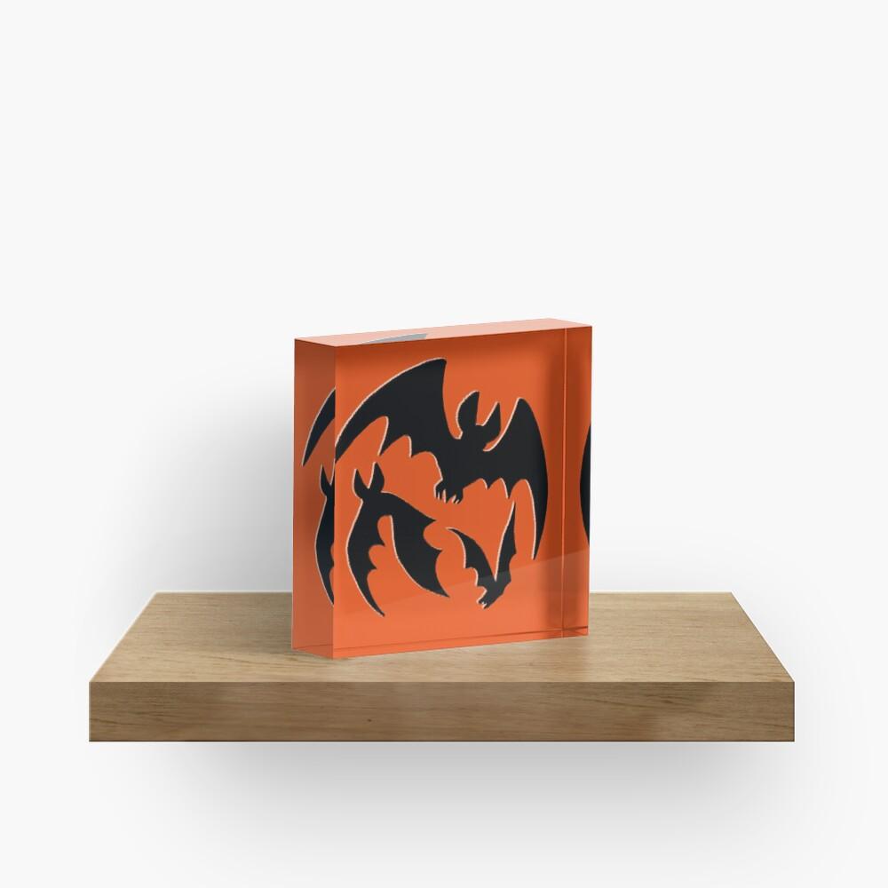 Blood Moon Bats Acrylic Block