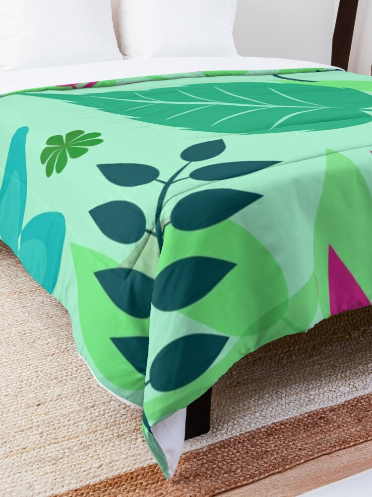 Alternate view of Colorful Spring Leaves Print Comforter
