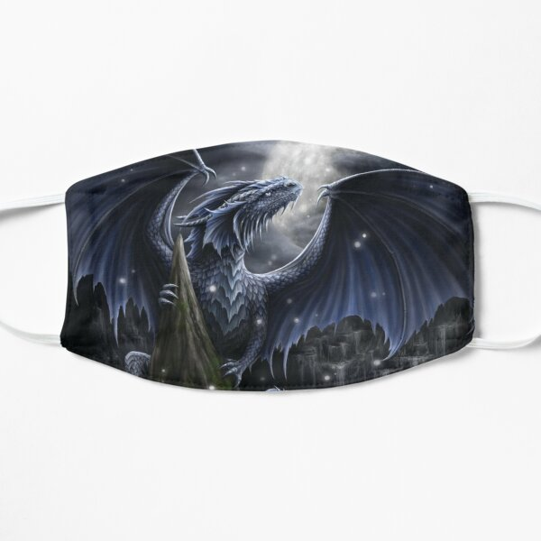 Blue Moon Dragon Flat Mask